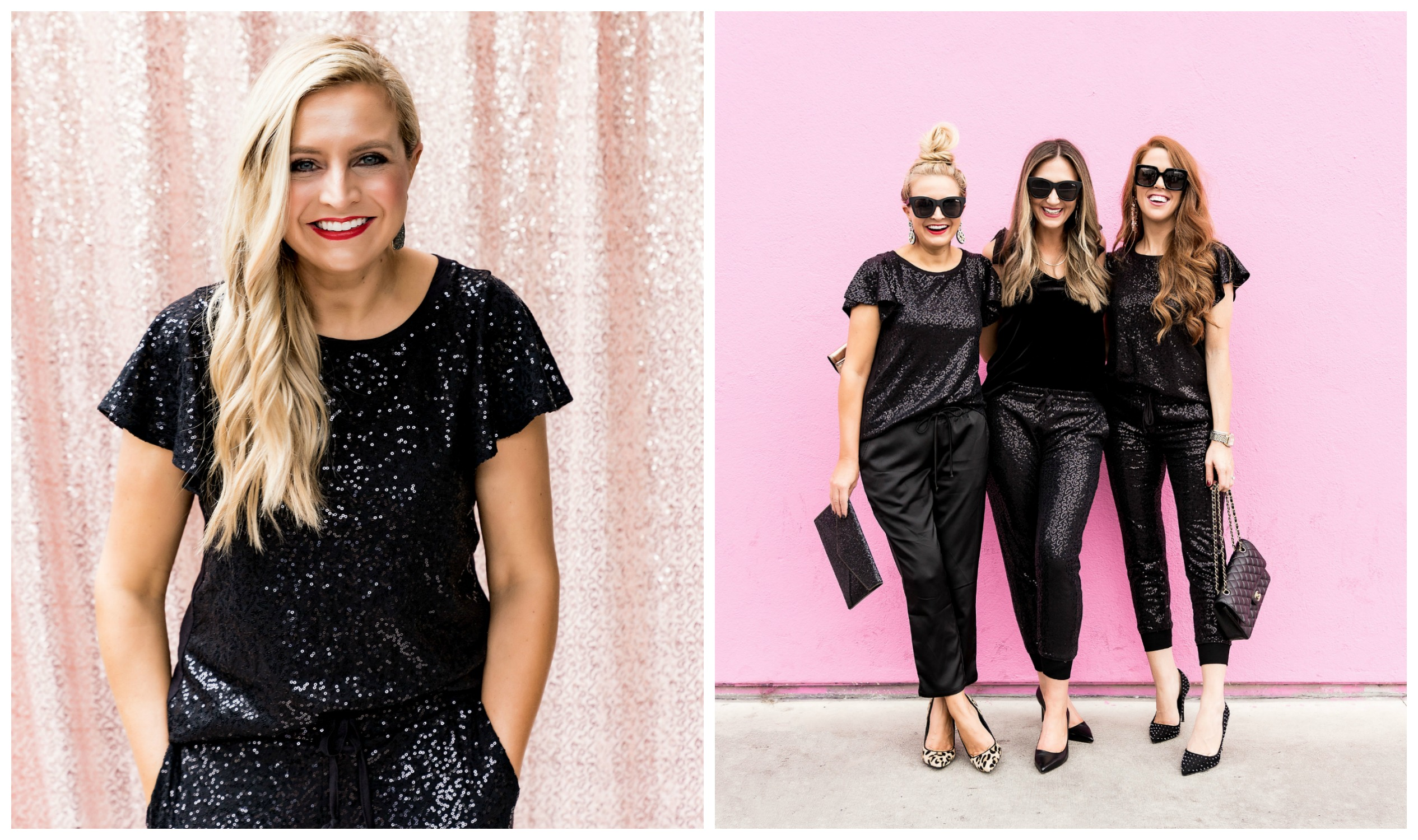 The Latest Nordstrom Collection: Gibson x Glam Collection featured by top Houston fashion blog, Fancy Ashley - sequin top