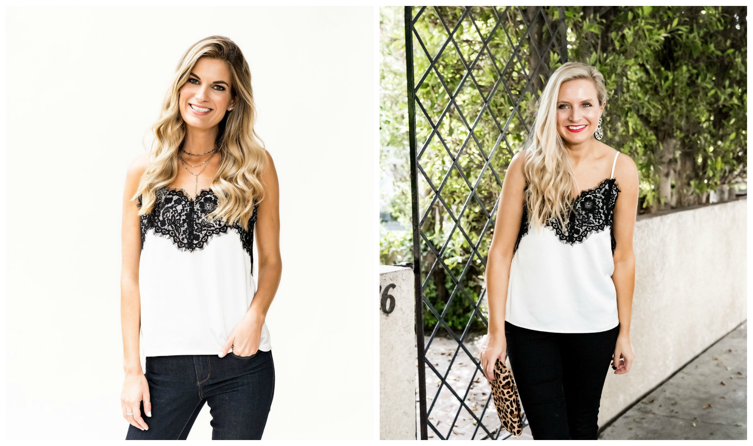 The Latest Nordstrom Collection: Gibson x Glam Collection featured by top Houston fashion blog, Fancy Ashley - lace camisole top