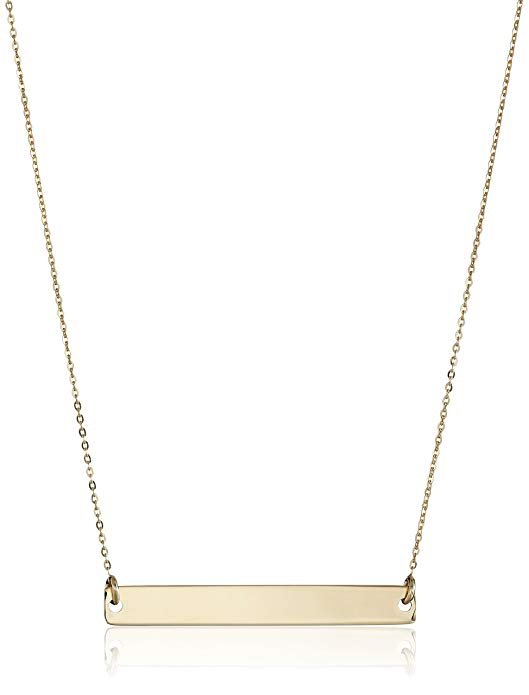 Amazon Fashion Sale: Day of Deals Top Picks featured by top Houston fashion blogger, Fancy Ashley: image of a gold bar necklace