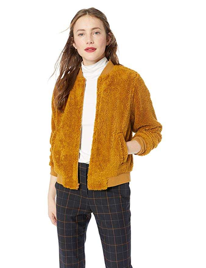 Amazon Fashion Sale: Day of Deals Top Picks featured by top Houston fashion blogger, Fancy Ashley: image of a J.Crew sherpa bomber jacket