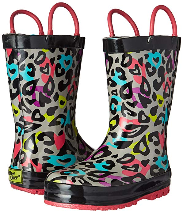 Amazon Fashion Sale: Day of Deals Top Picks featured by top Houston fashion blogger, Fancy Ashley: image of leopard Kids rain boots