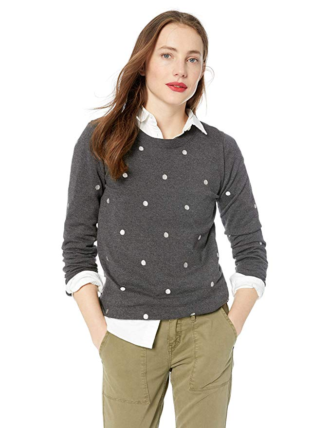Amazon Fashion Sale: Day of Deals Top Picks featured by top Houston fashion blogger, Fancy Ashley: image of a J.Crew polka dot crew neck sweater