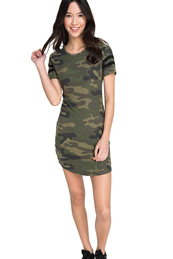 Amazon Fashion Sale: Day of Deals Top Picks featured by top Houston fashion blogger, Fancy Ashley: image of a J.Crew camouflage tshirt dress