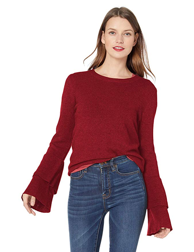 Amazon Fashion Sale: Day of Deals Top Picks featured by top Houston fashion blogger, Fancy Ashley: image of a J.Crew ruffle sleeves sweater