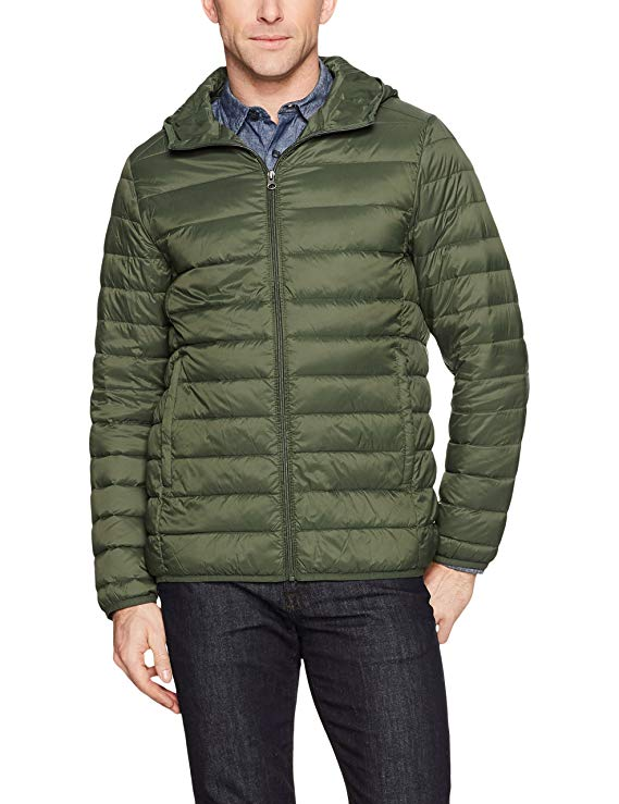 Winter fashion Amazon Favorites featured by top Houston fashion blogger, Fancy Ashley: image of a man wearing an Amazon Essentials lightweight puffer jacket