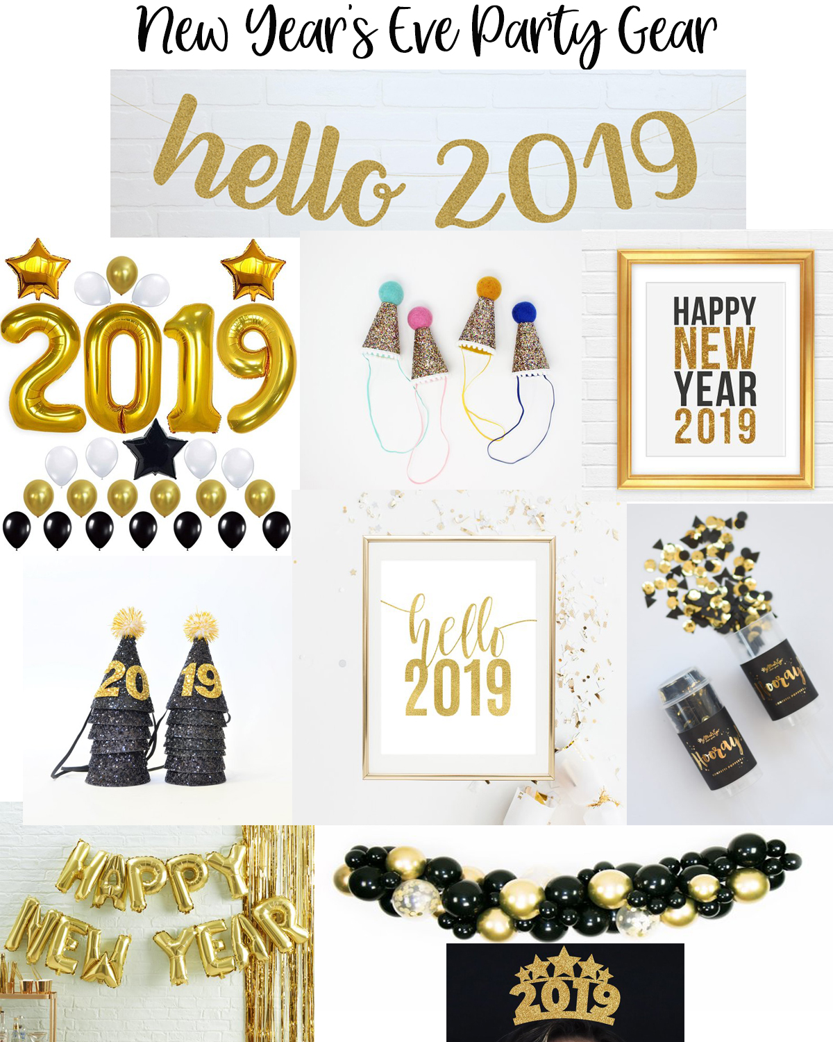 Top 5 Etsy favorites featured by popular Houston life and style blogger, Fancy Ashley: image of NYE party essentials available on Etsy