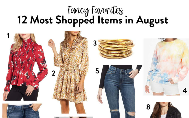 12 Most Shopped Items in August