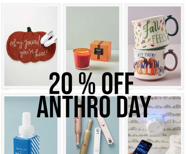 20% off Anthro Day