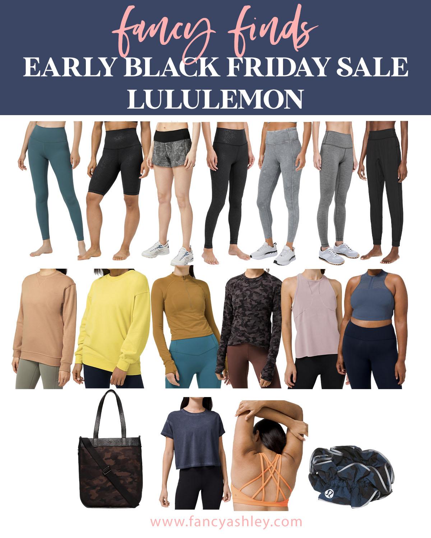 Black Friday Sales by popular Houston life and style blog, Fancy Ashley: collage image of Lululemon clothing.