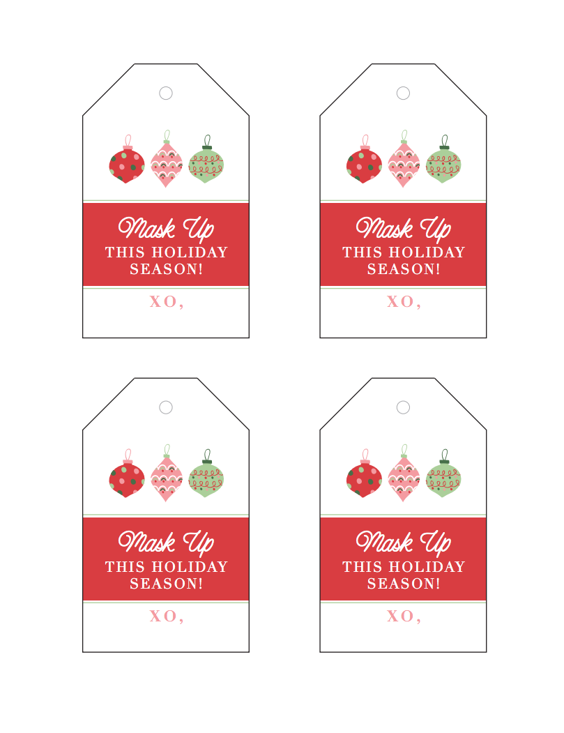 Christmas Gift for Teachers by popular Houston life and style blog, Fancy Ashley: image of printable gift tags.